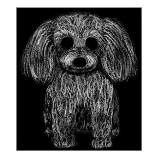 Surreal Poodle Poster