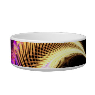 Surreal Purple Fractal Vortex Bowl