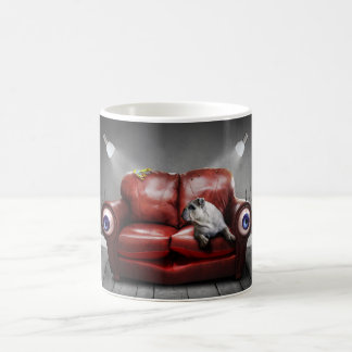 Surreal Red Couch Alive Coffee Mug