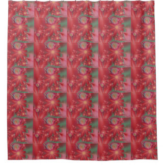 Surreal Red Floral Shower Curtain