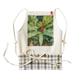 Surreal red flowers zazzle HEART apron