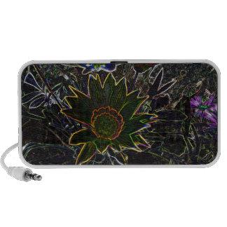 Surreal Rockery Flowers Doodle Speaker