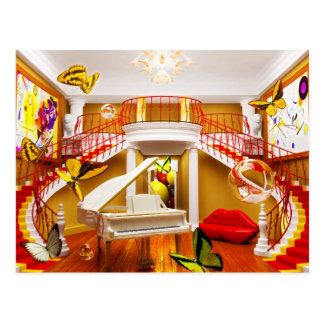 Surreal Rooms Postcard