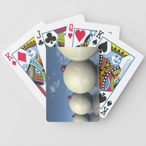 Surreal Spheres Structure Bicycle Card Deck