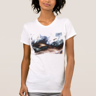 Surreal Storm and Multihued Treetops by KLM Tee Shirt