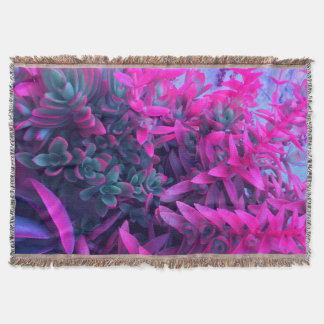 Surreal Succulent Garden Photography Throw