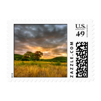 Surreal Sunrise-Stamp-Small Postage Stamp
