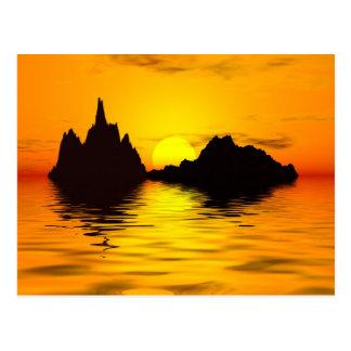 Surreal sunset postcard