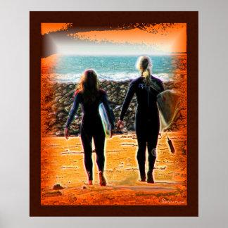 Surreal Surfing Safari Poster 2