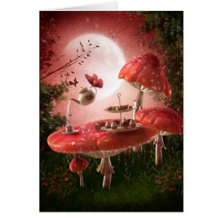 Surreal Tea Party Note Card