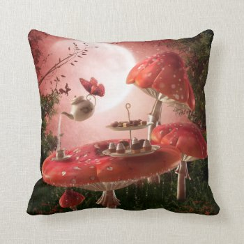 Surreal Tea Party Throw Pillow