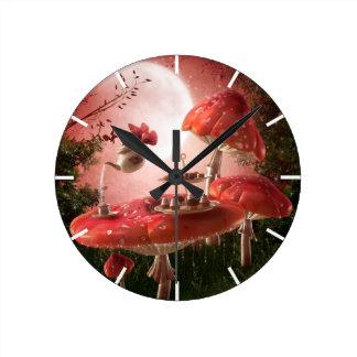 Surreal Tea Party Wall Clock