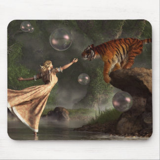 Surreal Tiger Bubble Waterdancer Dream Mouse Pad