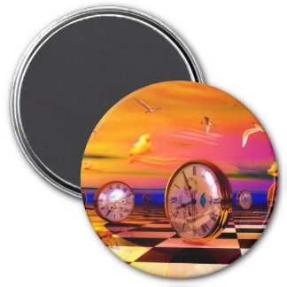 Surreal Time by Lenny metaphysical art 3 Inch Round Magnet