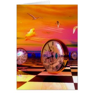 Surreal Time by Lenny metaphysical art Greeting Card