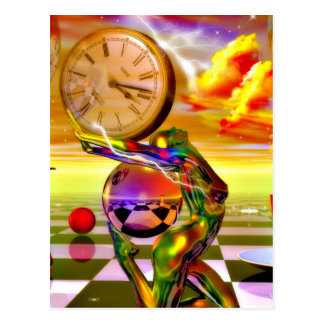 Surreal Time by Lenny metaphysical art Postcard