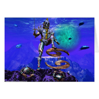 SURREAL UNDERSEA / Cancer Zodiac Birthday Sign Card
