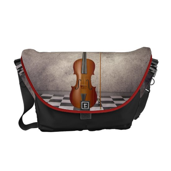 Surreal Violin   Rickshaw Messeng Courier Bag