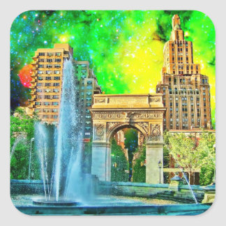 Surreal Washington Square Park NYC Sticker