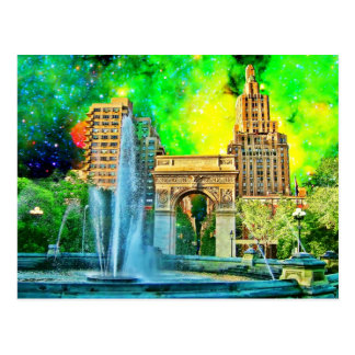 Surreal Washington Square Park Postcard