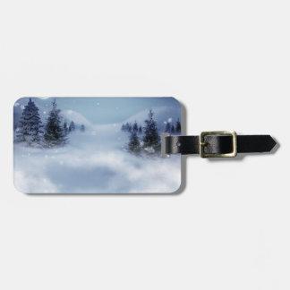Surreal Winter Bag Tag