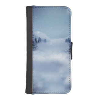 Surreal Winter Wallet Phone Case For iPhone SE/5/5s