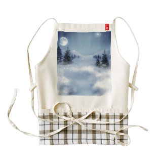Surreal Winter Zazzle HEART Apron