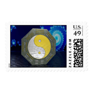 Surreal YinYang with Fractal Postage