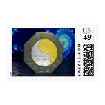 Surreal YinYang with Fractal Postage Stamps