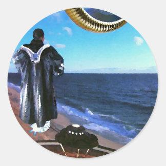 Surrealism Art Photo Collage Scifi CricketDiane Classic Round Sticker