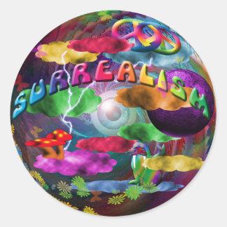 Surrealism Classic Round Sticker