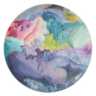 Surrealism Colorful Dinner Plate