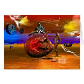 Surrealism series greeting card