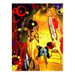Surrealismo abstracto tarjeta postal