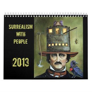 Surrealismo con la gente 2013 calendario de pared