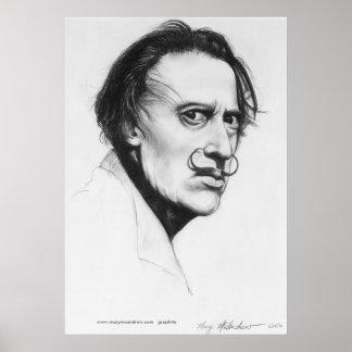 Surrealist Artist Portrait Fine Art Print / Poster