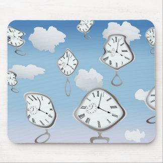 surrealist clocks mouse pad