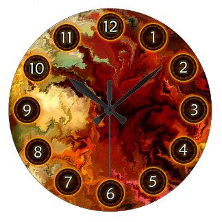 Surrealist de la abstracción por el rafi talby reloj redondo grande