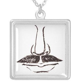 Surrealist del bigote del vintage colgante cuadrado