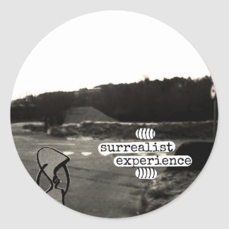 surrealist experience classic round sticker
