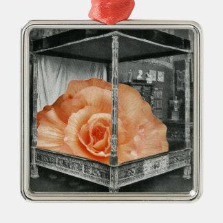 Surrealist Rose Bed Metal Ornament