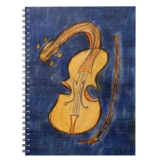 Surrealist violin notebook