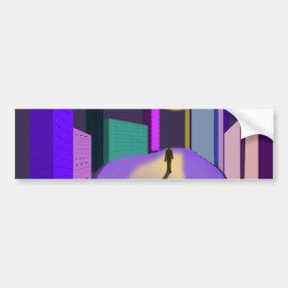 surrealistic-155227  surrealistic dream city night bumper sticker