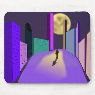 surrealistic-155227  surrealistic dream city night mouse pad