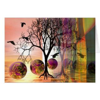 Surrealistic autumn card