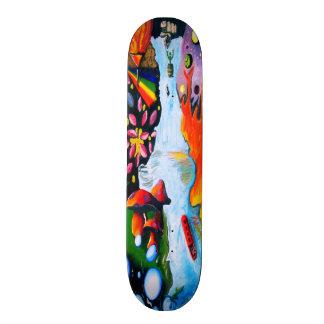 Surrealistic Dali Style Mushroom Wonderland Skateboard
