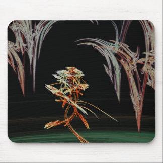 Surrealistic Flower Under a Melting Sky Fractal Mouse Pad