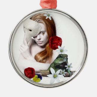 Surrealistic portrait. metal ornament