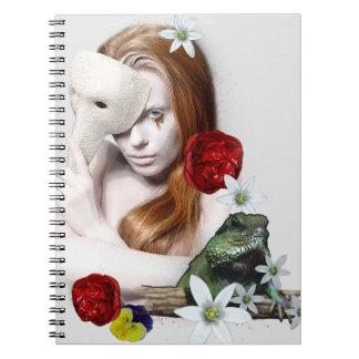 Surrealistic portrait. notebook
