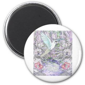 Surrealistic Rainforest 2 Inch Round Magnet
